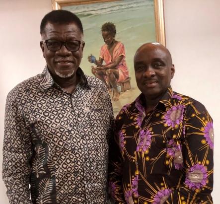 A COURTESY CALL ON DR. MENSAH OTABIL, ACCRA